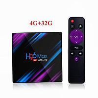 Android TV H96 Max (PK3318 Quad-Core 64-bit ARM Cortex-A53 2ГГц/GPU Mali-450 750 МГц/ DDR3 4 ГБ/eMMC 32 ГБ/