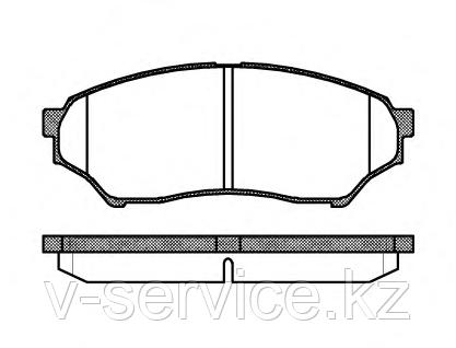 Тормозные колодки YOTO G-302(MD 6089)(REMSA 845.00)