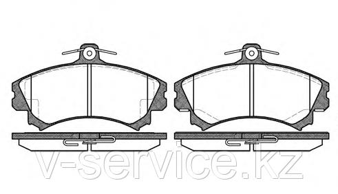 Тормозные колодки YOTO G-305(MD 6090)(REMSA 590.02)