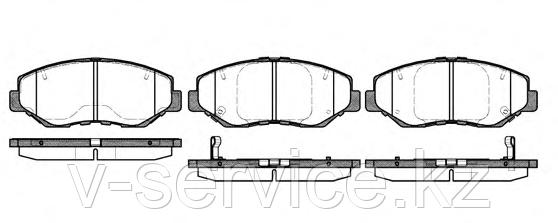 Тормозные колодки YOTO G-308(MD 5128M)(REMSA 899.00)
