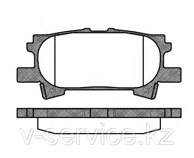 Тормозные колодки YOTO G-336(MD 2250M)(REMSA 1040.00)