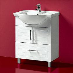 Тумба для ванной «Акваль Анна» 70 см. Умывальник в комплекте: «Квадро-Л 70»