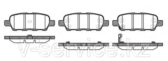 Тормозные колодки YOTO G-341(MD 1244M)(REMSA 876.01)