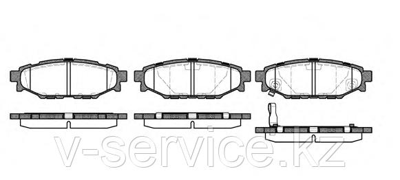 Тормозные колодки YOTO G-345(MD 7064M)(REMSA 1136.01)