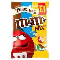 Драже M&M's Mix (chocolate, cripsy, peanut) Treat Bag 70гр (16шт-упак)