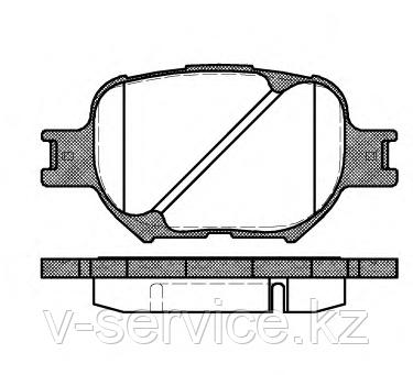 Тормозные колодки YOTO G-353(MD 2180)(REMSA 742.00)
