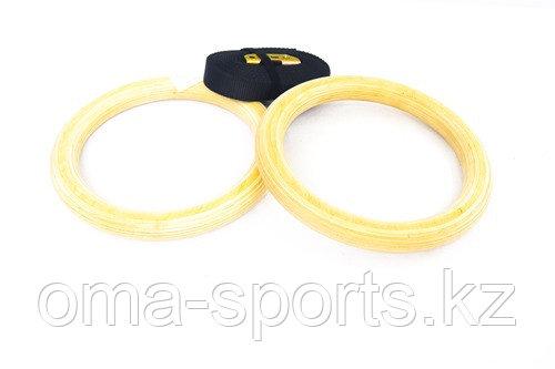 Кольцо гимнастический деревянный 90637