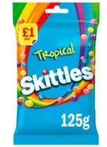 Драже Skittles tropical 125гр (12шт-упак)