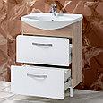 Тумба с умывальником для ванной «Акваль Сеул» 65 см. Умывальник в комплекте: «Чезаро 65», фото 2