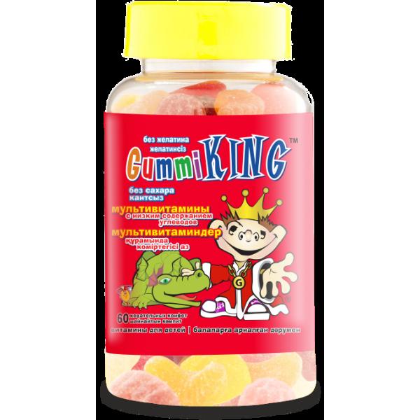 Gummi King Мультивитамины без сахара №60 драже.жев