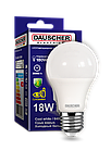 LED Лампа Dauscher A65 18W E27 6400K 90lm/w Холодный цвет