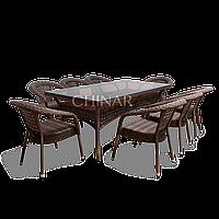 """Ротанговая мебель DEKO """"Комплект обеденный стол + 8 кресла""""."""