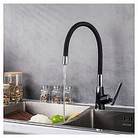 Смеситель для кухни Frap F4457 черный/хром, фото 1
