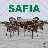 Ротанговый плетеный мебель - SOFIA. Комплект 6 стулья и 1 стол.