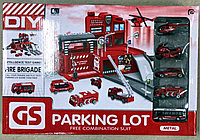Набор парковка трек Пожарная станция Parking Lot 5 машинок
