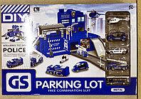 Набор парковка трек Полиция Parking Lot 5 машинок
