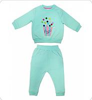 Комплект для девочки (свитшот, брюки)
