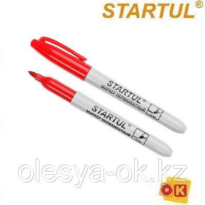 Маркер перманентный фетровый красный STARTUL PROFI (ST4350-03) (толщ. линии 1.5 мм)