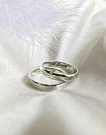 Парные кольца из серебра с гравировкой