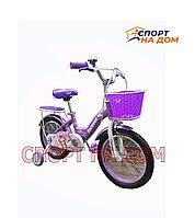 """Велосипед детский Forever """"Корона"""" (фиолетовый) на 4-5 лет"""