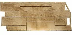 Фасадные панели Песочный 1087x446 мм (0,41 м2) Камень природный FINEBER