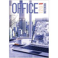 """Бизнес-блокнот А5 120л. Hatber """"Office"""", c поролоном"""