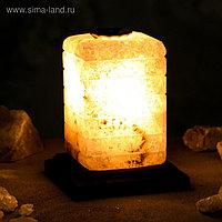 """Соляная лампа """"Зебра арома"""", цельный кристалл, 12х12х16см, 2-3 кг"""