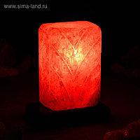 """Соляная лампа """"Рассвет"""", цельный кристалл, 20 см, 1-2 кг"""
