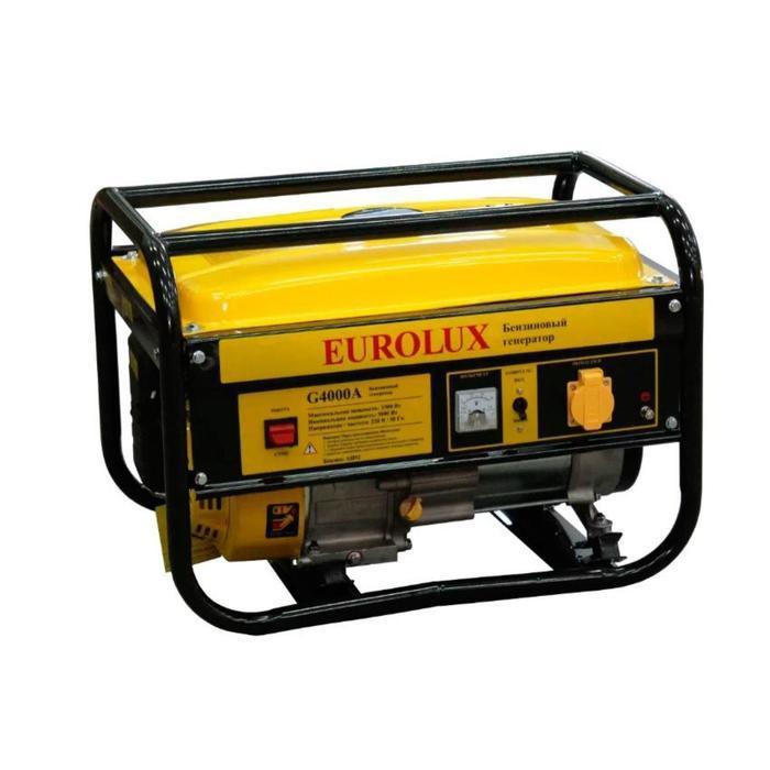Электрогенератор Eurolux G4000A, бенз., 3.3 кВт, 220 В, 7 л.с., 15 л, ручной старт + МАСЛО
