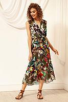 Женское летнее платье Nova Line 50042 хаки 42р.
