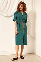Женское летнее из вискозы зеленое платье Nova Line 50051 нефрит 42р.