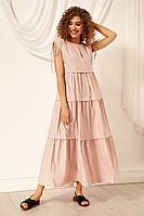 Женское летнее хлопковое розовое платье Nova Line 50074 пудрово-розовый 42р.