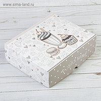 Коробочка для кондитерских изделий «Радуйся жизни», 17 × 20 × 6 см