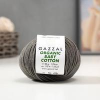 Пряжа 'Organic Baby Cotton' 100 хлопок 115м/50гр (435 т. серый) (комплект из 2 шт.)