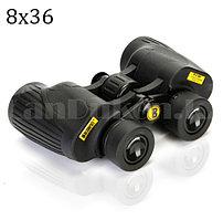 Бинокль с бинокулярный зумом и ночным виденьем матовый дальновидный до 1 000 м 8x36 HD Boshiren BAK-4 черный