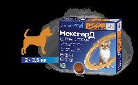 НексгарД Спектра для собак весом 2-3,5кг, 3 таблетки