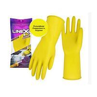 Перчатки Linex латексные прочные M-размер желтые