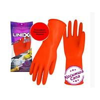Перчатки Linex латексные L-размер красные