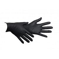 Перчатки нитриловые, M, 100шт/уп, черные