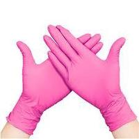 Перчатки S 100шт нитрил розовые Panagloves