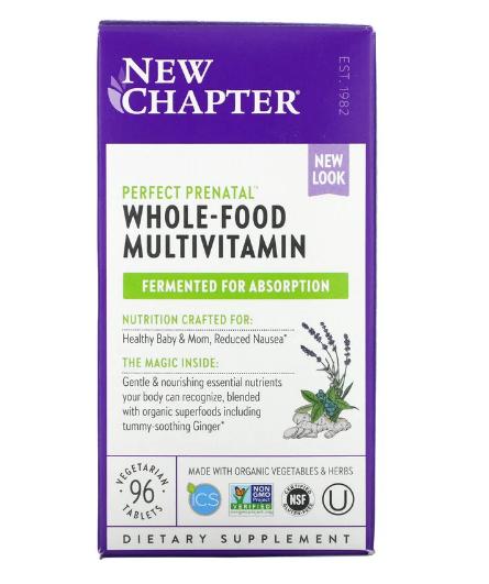 New Chapter, Идеальный пренатальный мультивитаминный комплекс, 96 вегетарианских таблеток