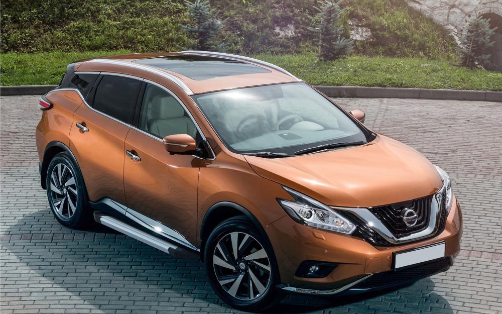 """Пороги """"Silver""""  Nissan  Murano  (2016-)"""