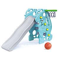 Горка детская Ching-Ching Саксофон с баскетбольным кольцом SL-09(B)
