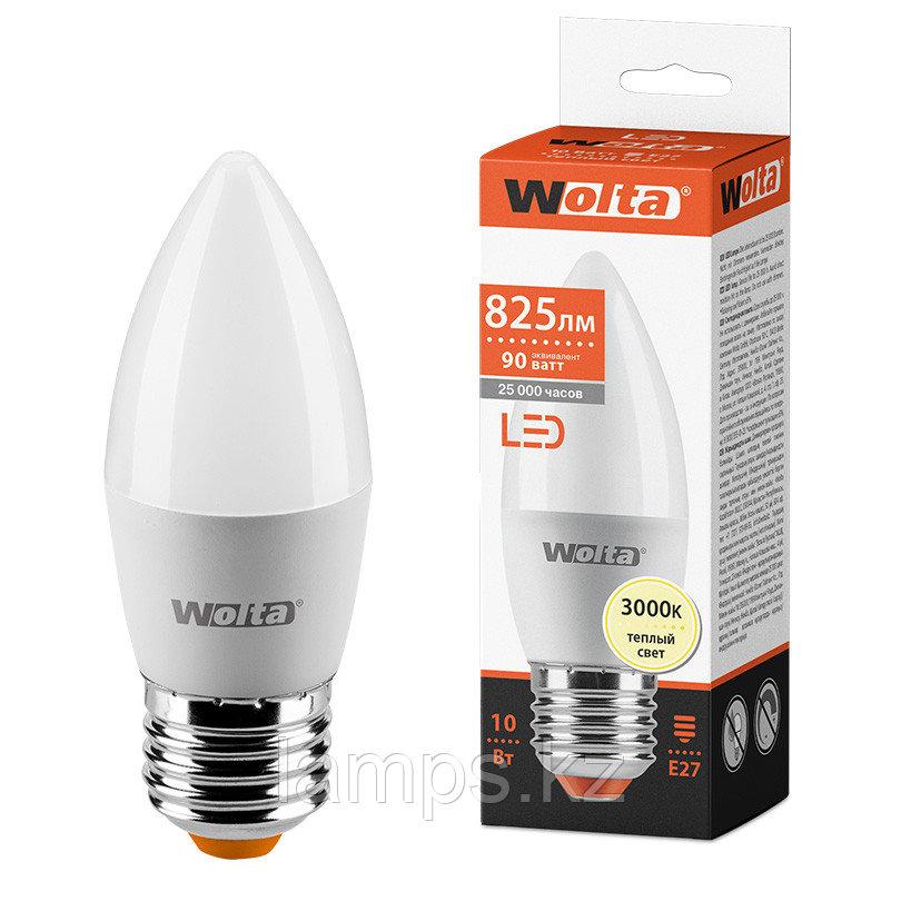 Лампа LED WOLTA C37 10Вт 825лм Е27 3000К   1/50