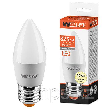 Лампа LED WOLTA C37 10Вт 825лм Е27 3000К   1/50, фото 2