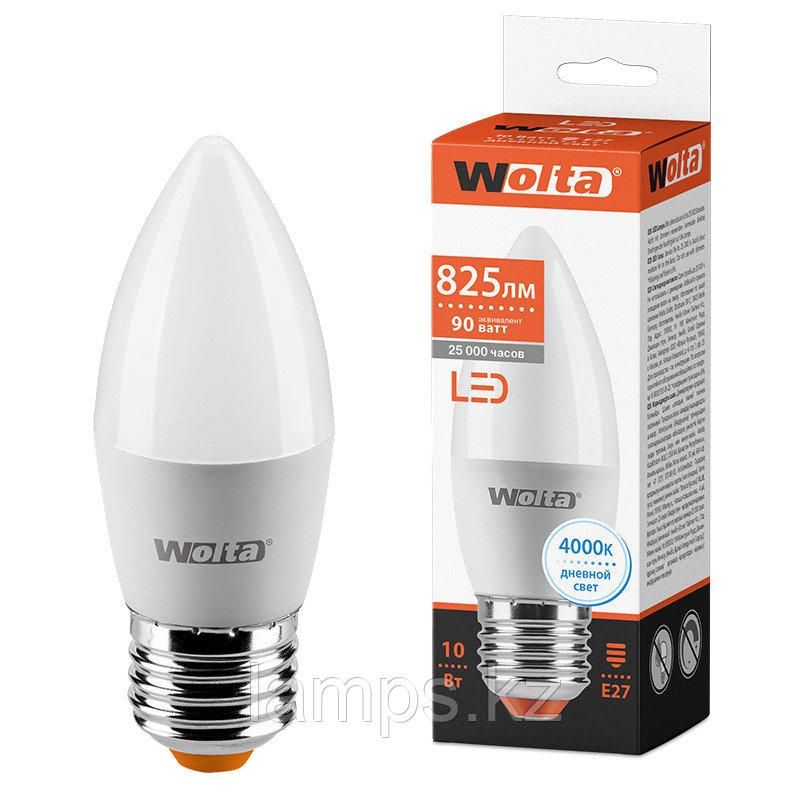 Лампа LED WOLTA C37 10Вт 825лм Е27 4000К   1/50
