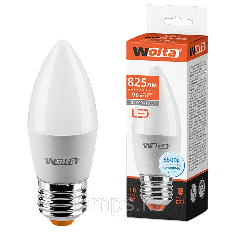 Лампа LED WOLTA C37 10Вт 825лм Е27 6500К   1/50
