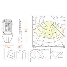 Уличный светодиодный светильник STL-50W01 50Вт IP65 6000 лм 4000К 213x460x62 мм  1/1, фото 3