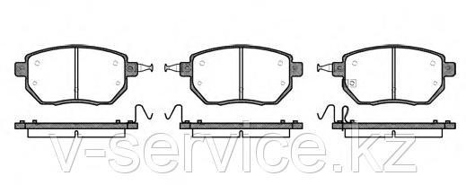 Тормозные колодки YOTO G-370(MD 1264M)(REMSA 985.02)