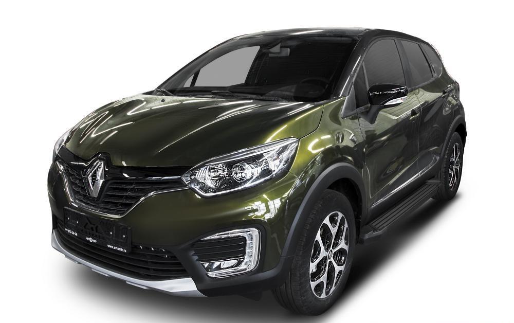 """Пороги """"Black"""" Renault Kaptur (2016-2021)"""